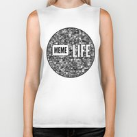 meme Biker Tanks featuring Meme + Life by iCentrifuge