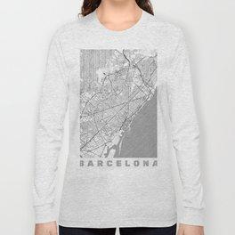 Barcelona Map Line Long Sleeve T-shirt