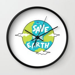 Climate Change Save The Earth Environment Gift Wall Clock