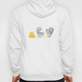 Squirrels on the phone Hoody