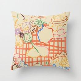SUMMER FRUIT STILL LIFE Throw Pillow