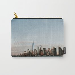 Skyline Upper Bay Sunset   Colourful Travel Photography   New York City, America (USA) Carry-All Pouch