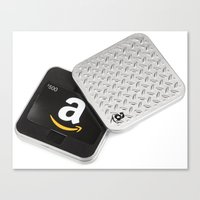 gift card Canvas Prints featuring Amazon Gift Card by chloetien
