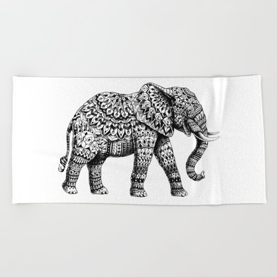 Ornate Elephant 3.0 Beach Towel