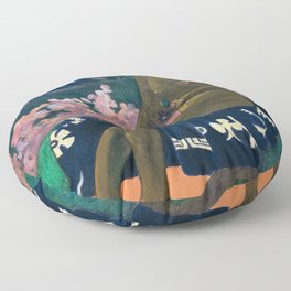 The Seed of the Areoi by Paul Gauguin Floor Pillow