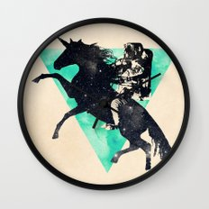 Ride the universe Wall Clock