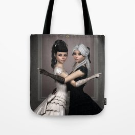 Beautiful Ladies and a difficult choice Tote Bag