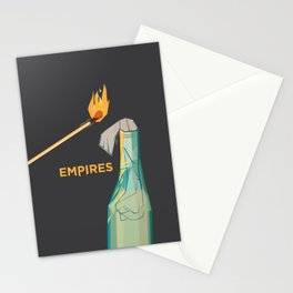 Empires Molotov Cocktail Print - BAND NAME ONLY Stationery Cards