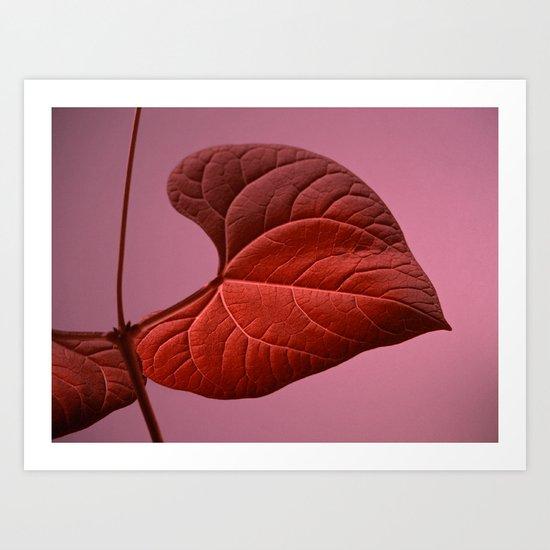 red leaf IX Art Print