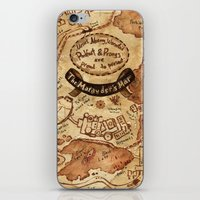 marauders iPhone & iPod Skins featuring Marauders Map by Dasha Borisenko