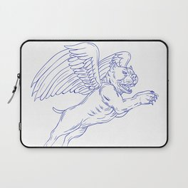 American Bully With Wings Drawing Laptop Sleeve