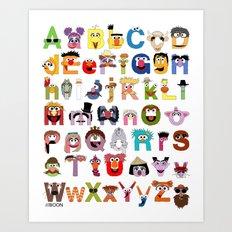 Sesame Street Alphabet Art Print