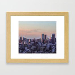 Sunset on the City Framed Art Print