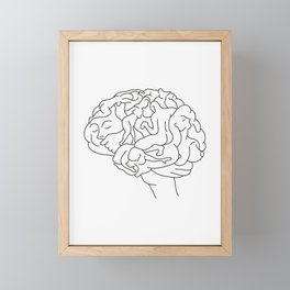 Brainstorm Framed Mini Art Print