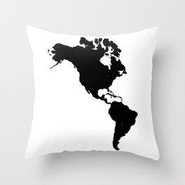The Americas Silhouette Throw Pillow