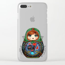 Portuguese Matryoshka Clear iPhone Case