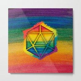 LGBT D20 Icosahedron of a Dream Metal Print