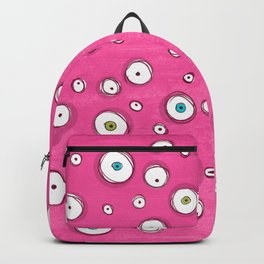 All Eyes on You Pink Backpack