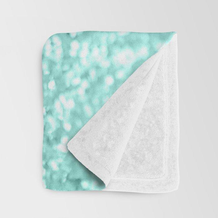 Summer Vibes Glitter #3 #coral #mint #shiny #decor #art #society6 Throw Blanket