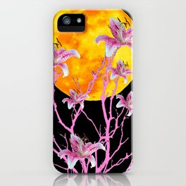 PINK ASIATIC STAR LILIES MOON FANTASY iPhone Case