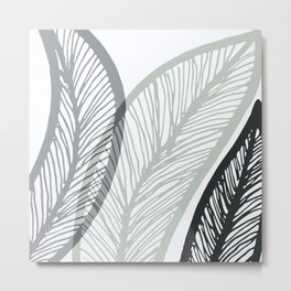 Sway To The Beat / Bold Banana Leaf Metal Print