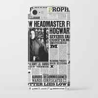 """snape iPhone & iPod Cases featuring Daily Prophet """"NEW Head Master, Severus Snape"""" by Win Graphics"""