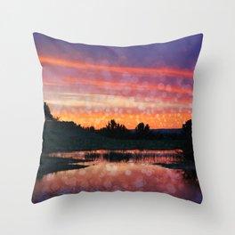 Boise Sunset Throw Pillow