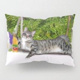 Vacation Time - Beach Bum Kitty Pillow Sham