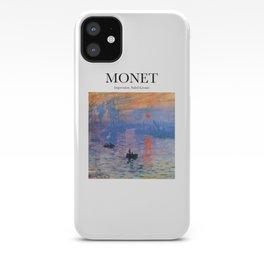 Monet - Impression, Soleil Levant iPhone Case