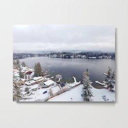 Clear Lake in Winter Metal Print