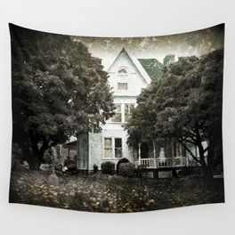 Haunted Hauntings Series - House Number 3 Wall Tapestry
