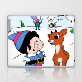 Hanging with Rudolph Laptop & iPad Skin