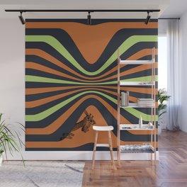 stripes and a girraffe Wall Mural
