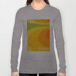 Kenya stamp  Long Sleeve T-shirt