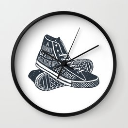 A Journey Of A 1000 Miles Begins With A Single Step Wall Clock