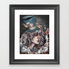 the Mad Hatter print Framed Art Print
