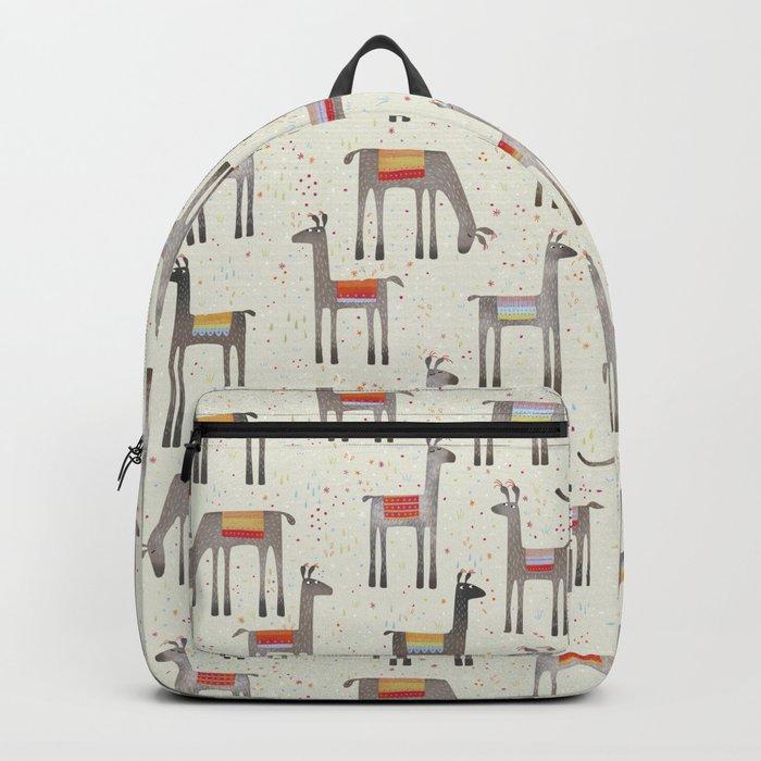 Llamas in the Meadow Backpack