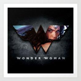 Wonder . Woman Art Print