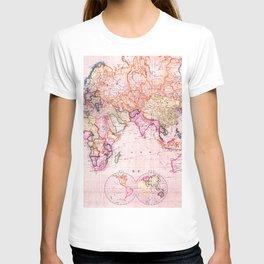 Vintage Map Pattern T-shirt