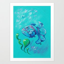 Sweet fish Art Print