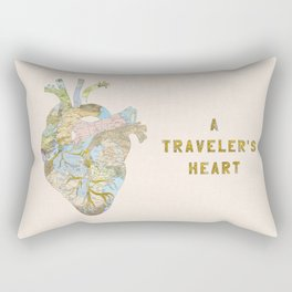 A Traveler's Heart Rectangular Pillow