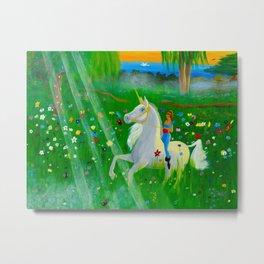 Bizet's Unicorn Metal Print