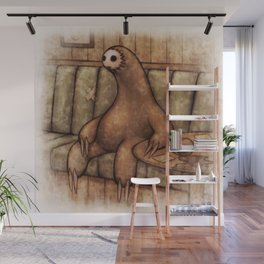 Drunk Sloth Wall Mural
