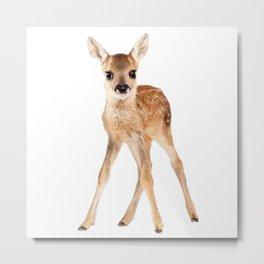 Unique Baby Deer Metal Print