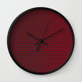 Ruthven Tartan Wall Clock