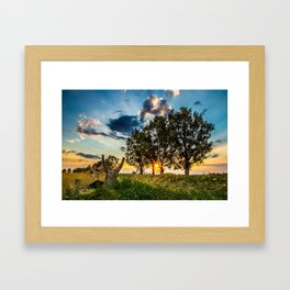 Sicilian Sunset Framed Art Print