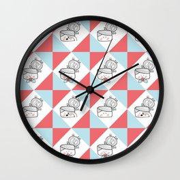 Messybun pattern Wall Clock