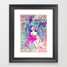 CrackHatsune Framed Art Print