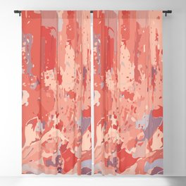 Autumn Abstract Colors Blackout Curtain