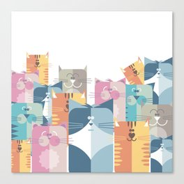 Too Many Cats? Canvas Print